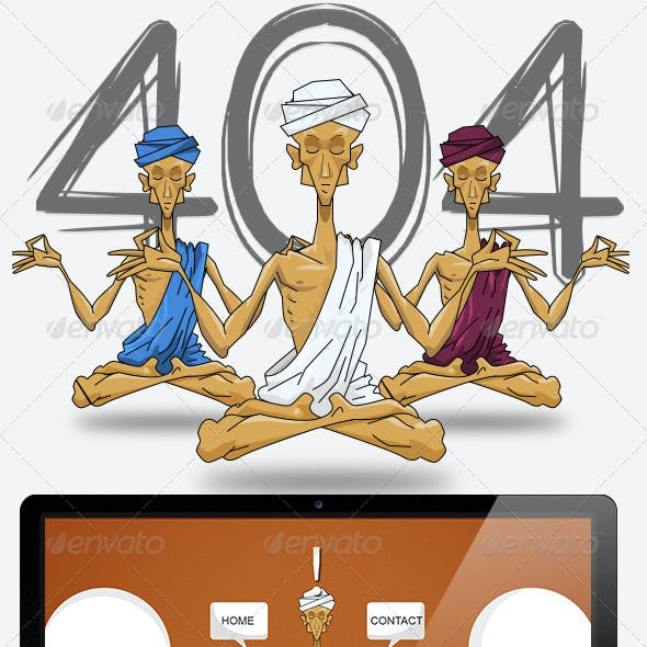 Yoga 404 Error Web Page
