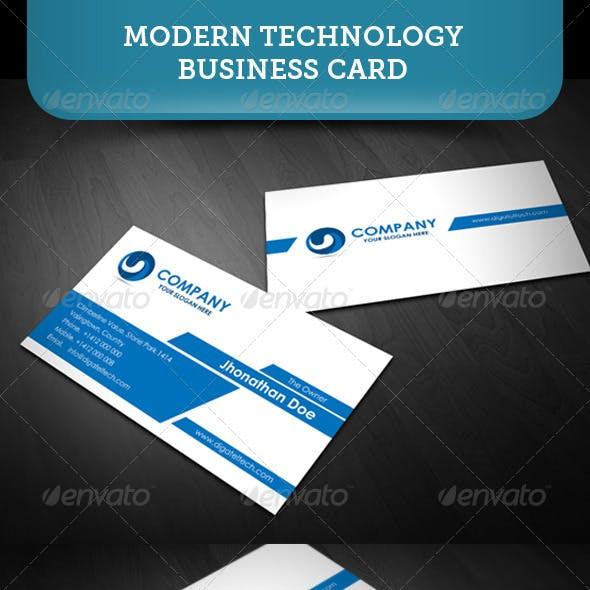Modern Technology Business Card