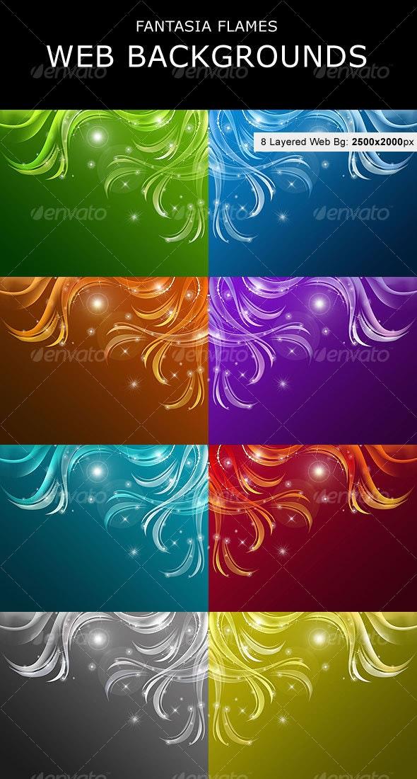 Fantasia Flames  Web Backgrounds - Backgrounds Graphics
