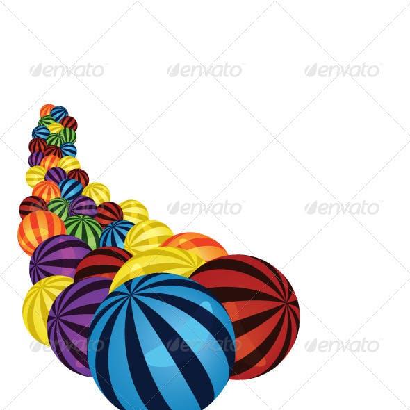 Colorful balls corner