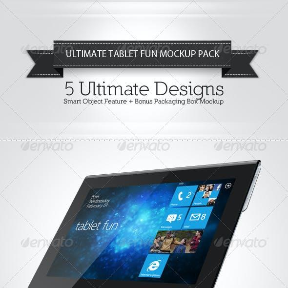 Tablet Fun Mockup Pack
