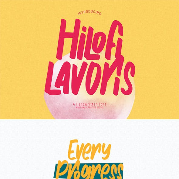 Hilofi Lavoris Handwritten Font