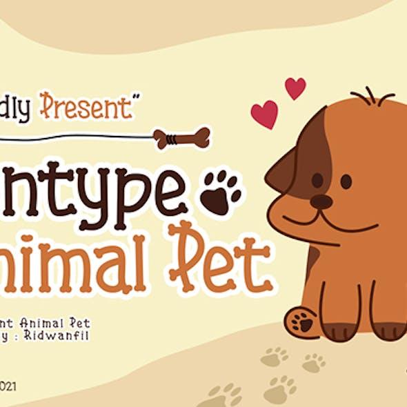 Fontype Animal Pet - Display Font