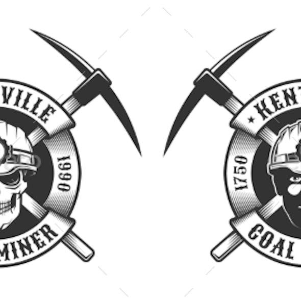 Coal Miner Vintage Logo
