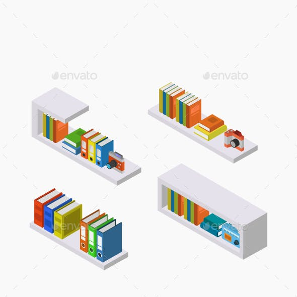Isometric Bookshelf