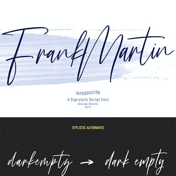 Frank Martin Signature Brush Font