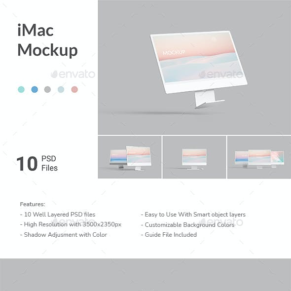 Minimal iMac Mockup