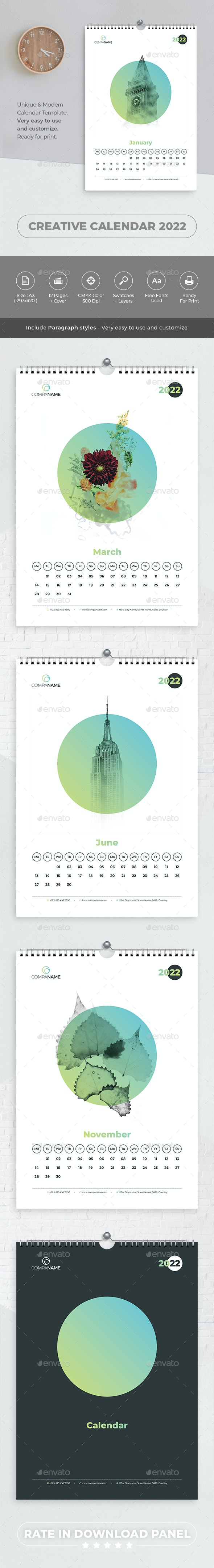 Creative Calendar 2022 - Calendars Stationery