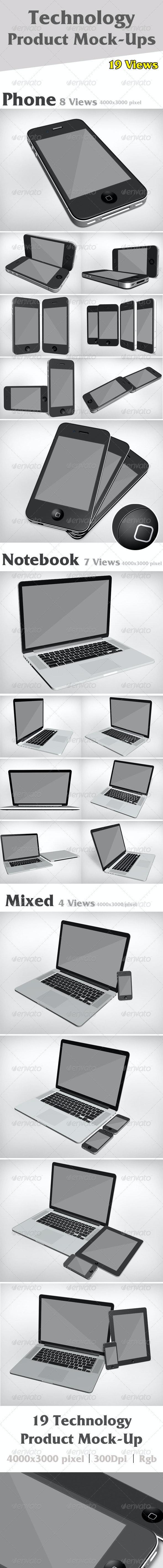 Product Mock-Ups V1 - Mobile Displays
