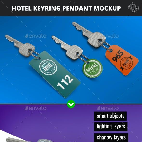 Hotel Keyring Pendant Mockup