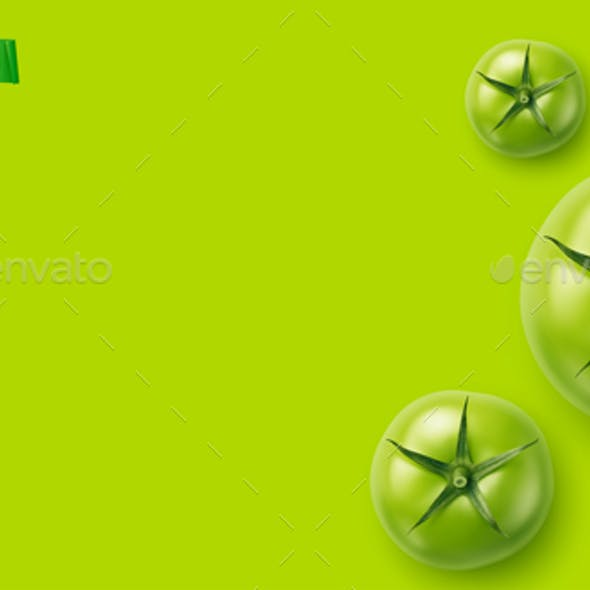 Vector Realistic Green Tomatoes