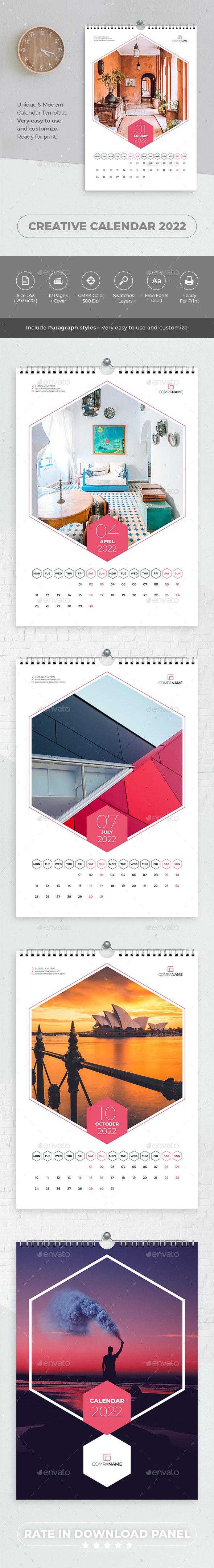 Creative Wall Calendar 2022 - Calendars Stationery