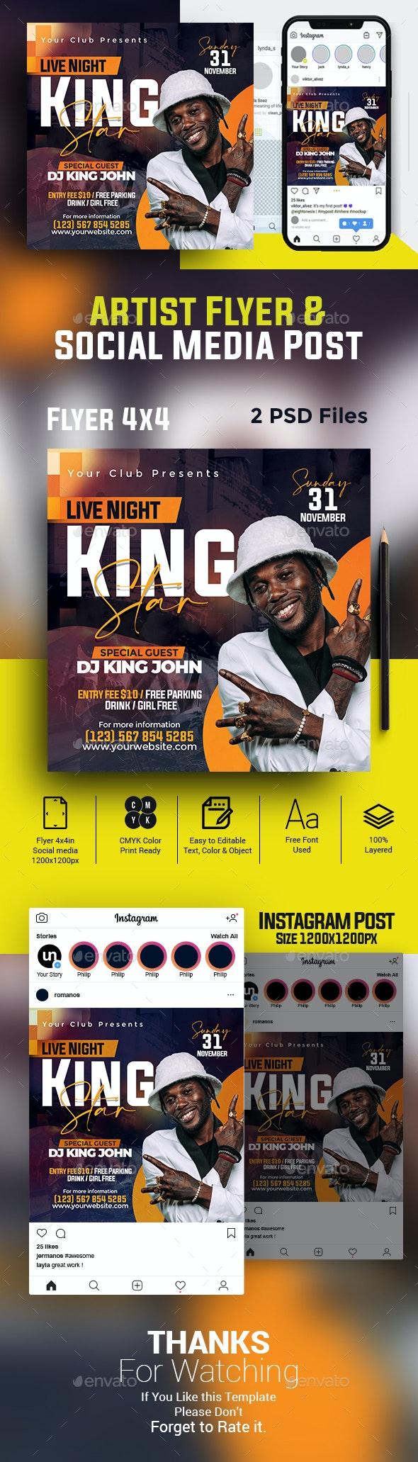 Artist Concert Flyer & Banner - Clubs & Parties Events