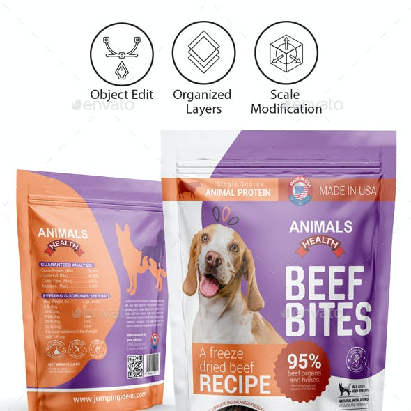 Dog Food Supplement Packaging Template