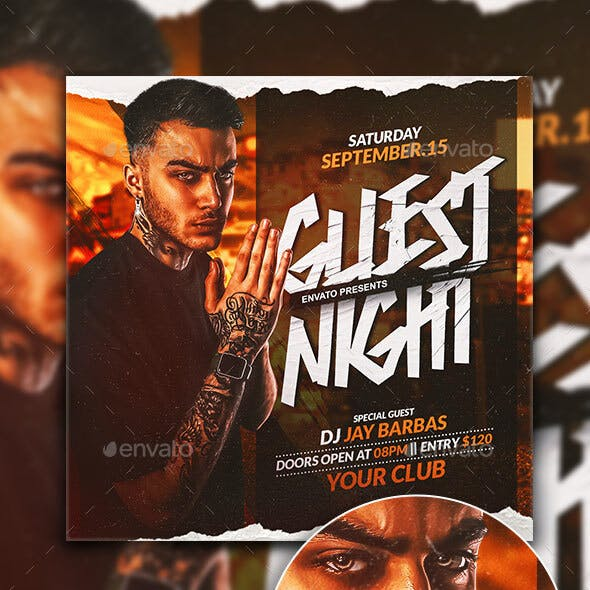 Guest Night FLyer Template