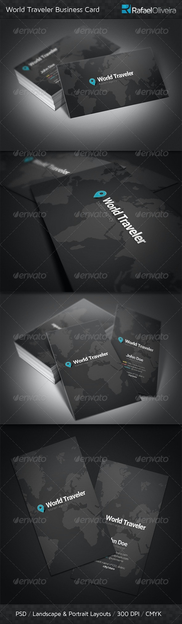 World Traveler Business Card - Industry Specific Business Cards