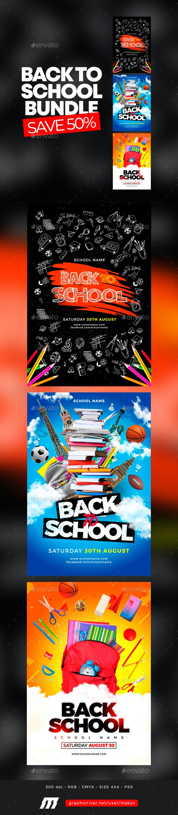 Back To School Flyer Bundle - Events Flyers