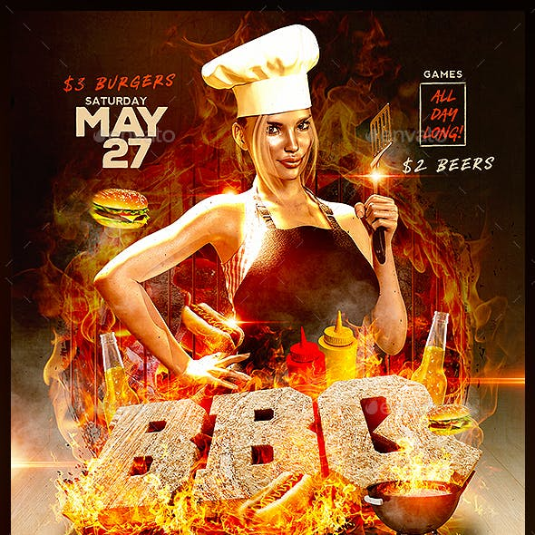 BBQ Weekend Party Flyer