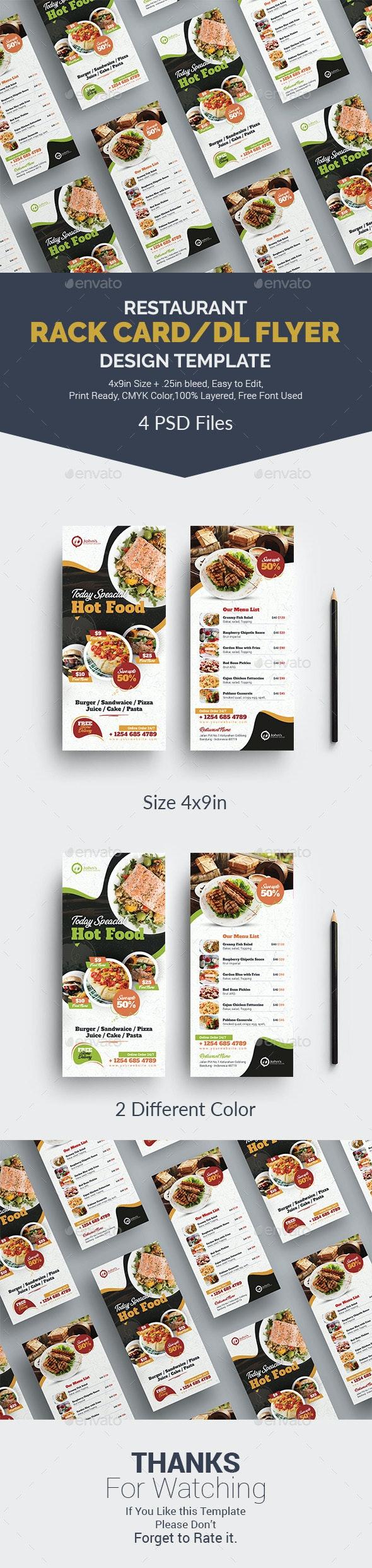 Rack Card / DL Flyer - Restaurant Flyers