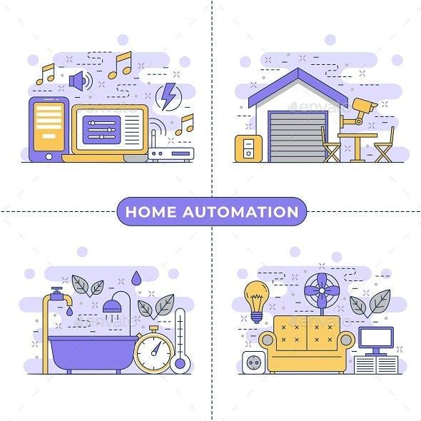 Home Automation Concept Illustration