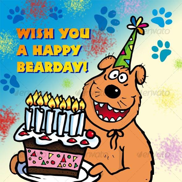 Bear with Cake