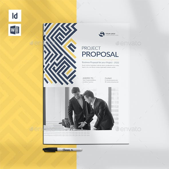 Modern Project Proposal, Word Template