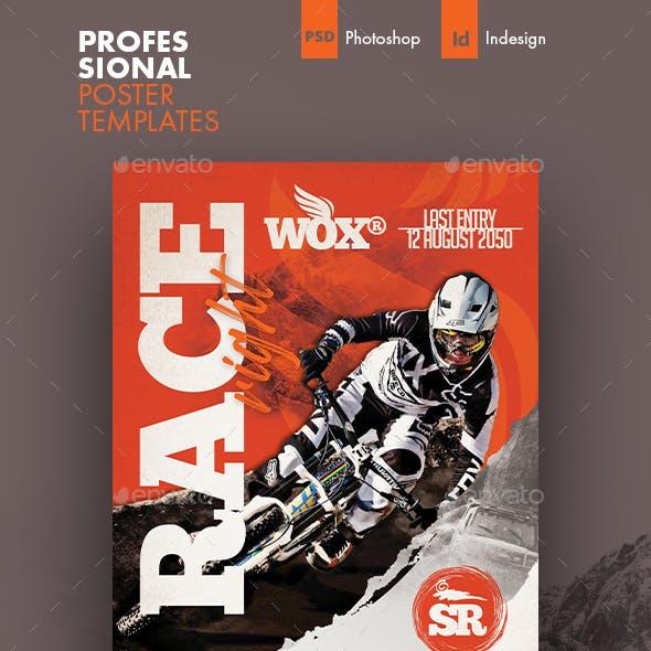 Bicycle Racing Poster Templates