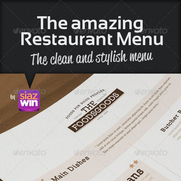 The Restaurant Menu 1