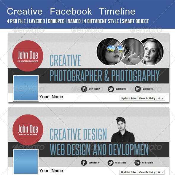 Creative fb Timeline Cover Image