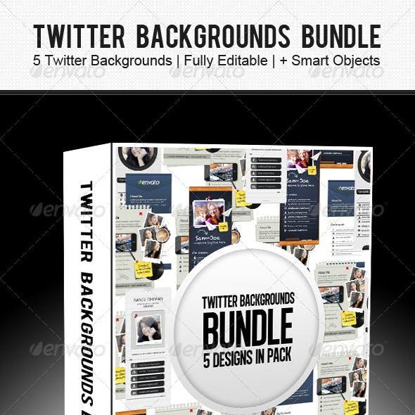 Twitter Backgrounds Bundle