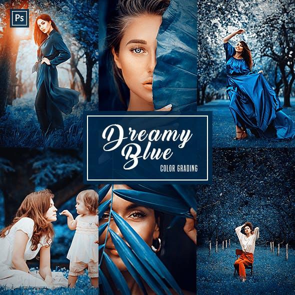 Dreamy Blue (Color Grading) - Photoshop Action