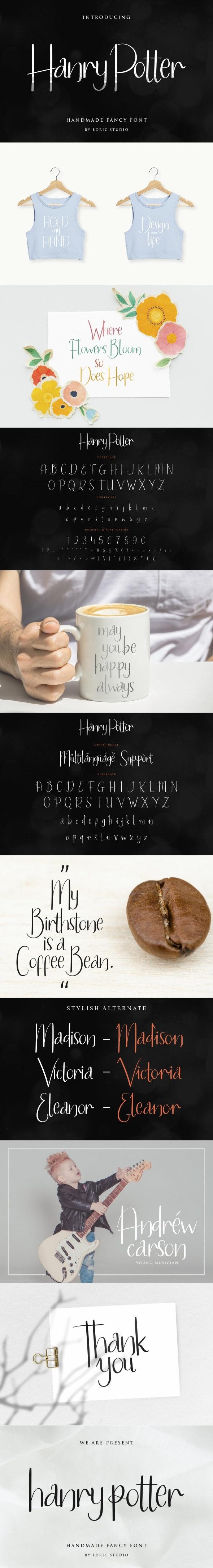 Hanry Potter Handwriting Script Font - Script Fonts