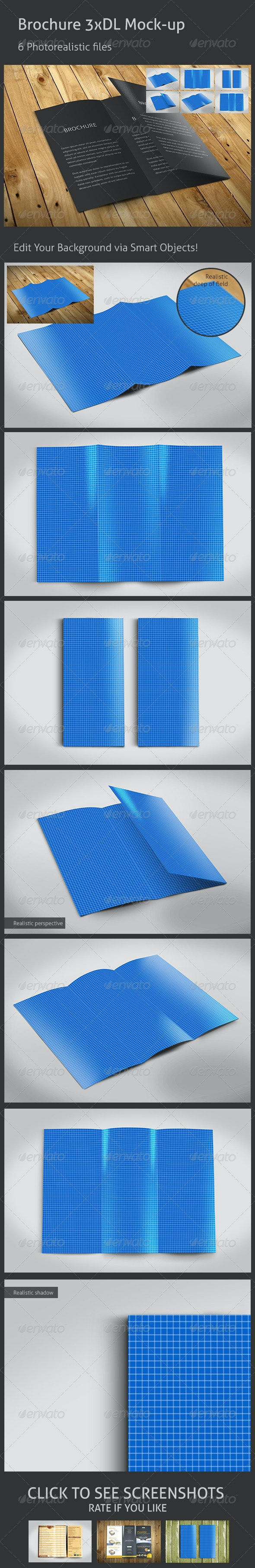 Realistic 3xDL Flyer Mockup - Flyers Print