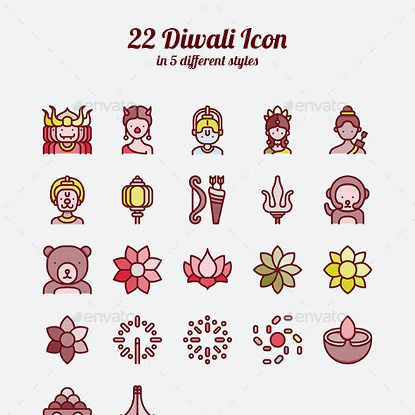 22 Diwali Icon