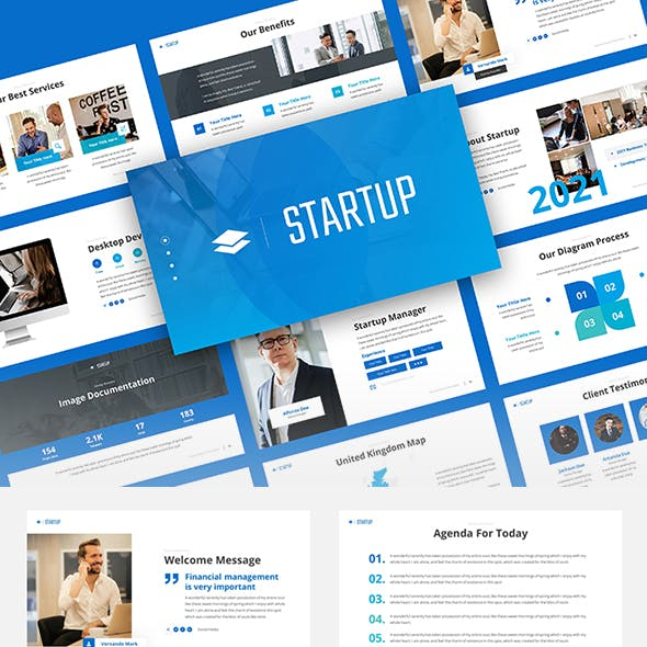 Startup - Corporate Business Google Slides Template