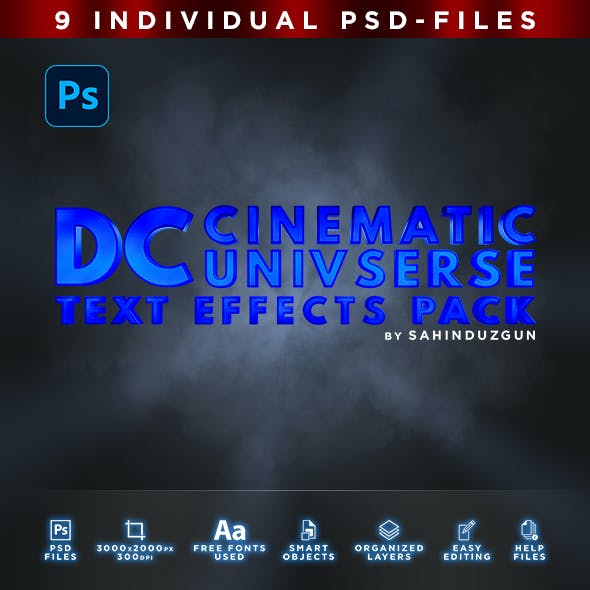 DC Cinematic Universe | Text-Effects/Mockups | Template-Package