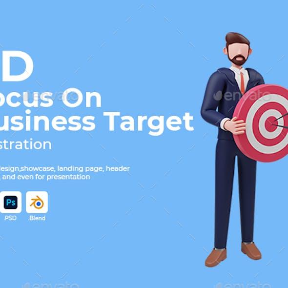 Businessman Focus on Business Target