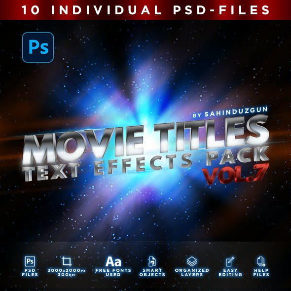 MOVIE TITLES - Vol.7 | Text-Effects/Mockups | Template-Pack