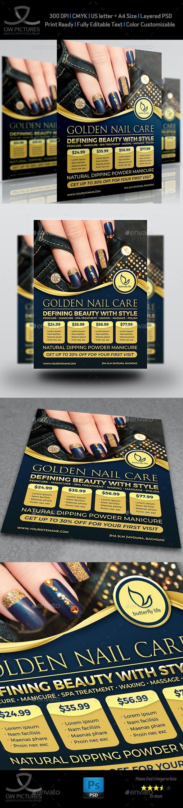 Nail Salon Flyer Template Vol.3 - Flyers Print Templates