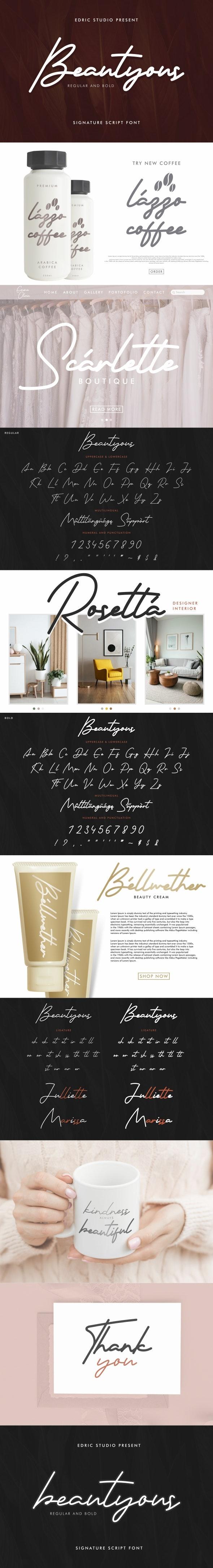 Beautyous Signature Font - Script Fonts
