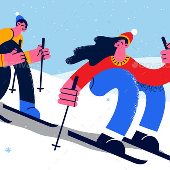 Winter Activities and Sport Concept