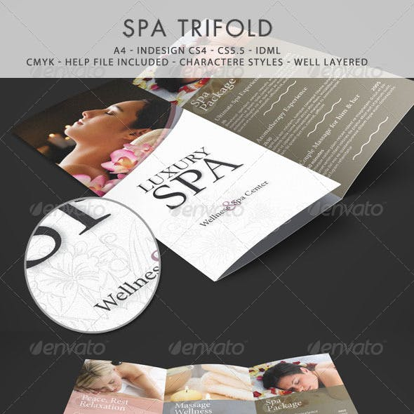 Spa & Wellness Trifold Template