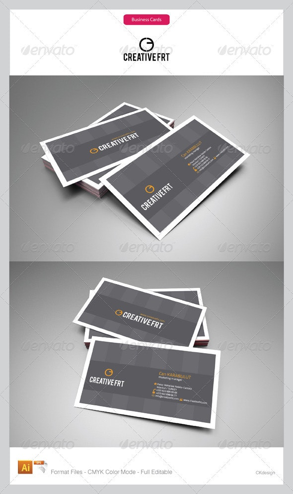 corporate business cards 74 - Business Cards Print Templates