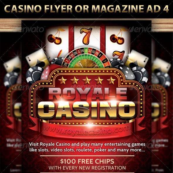 Casino Magazine Ad or flyer Template V5