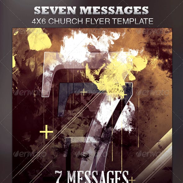 Seven Messages Church Flyer Template