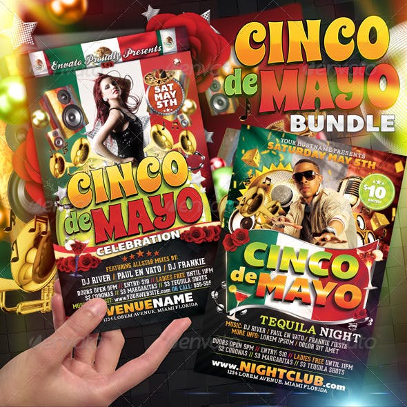 Cinco De Mayo Flyer Bundle
