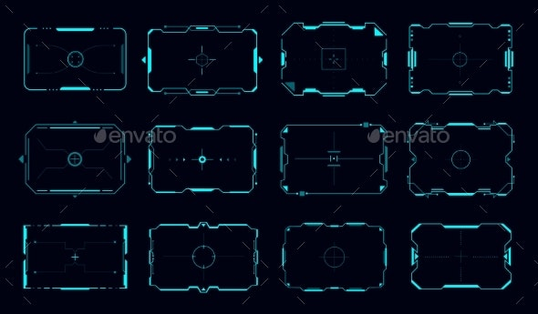 HUD Target Frames and Aim Control Panel Borders - Technology Conceptual