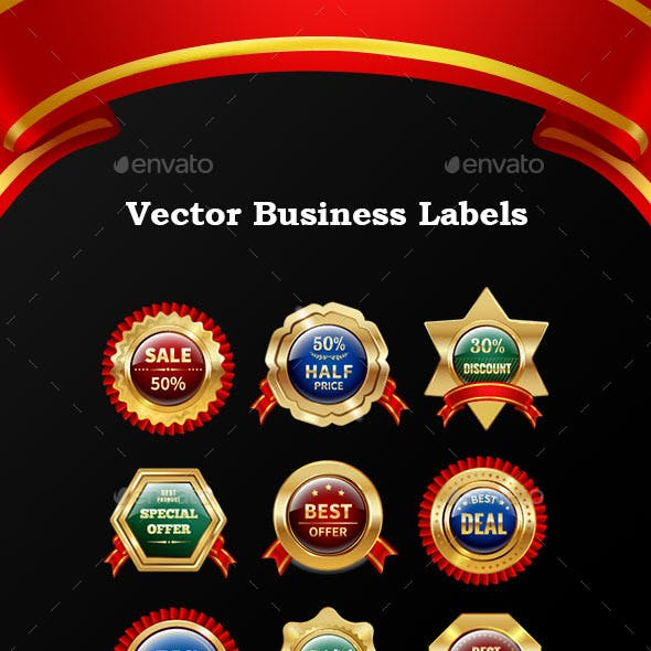 Vector Business Labels and Badges