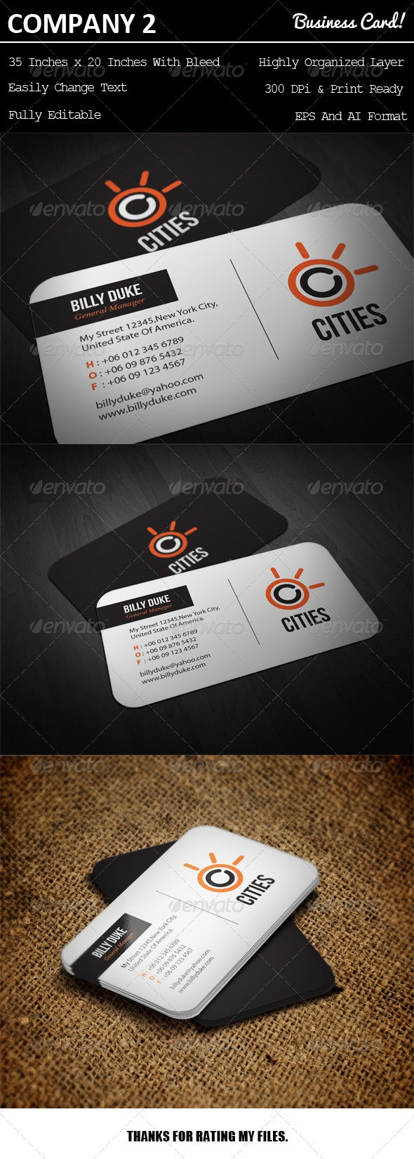 Company Business Card 2 - Creative Business Cards