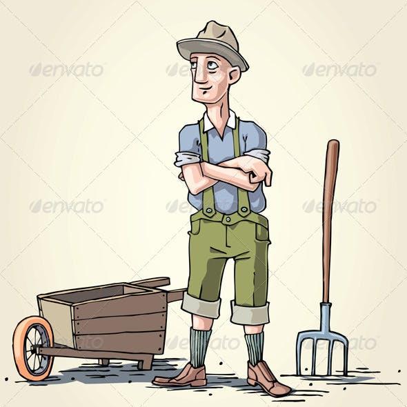 Farmer with the Wheelbarrow